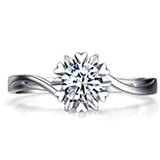 珂兰钻石 白18k金结婚钻戒