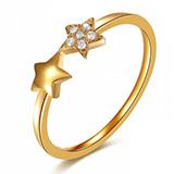 9k-gold 9k金镶嵌钻石戒指