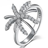 玛贝尔 白18K金镶嵌钻石戒指