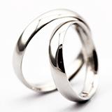 本笙 925银镀男女情侣结婚对戒