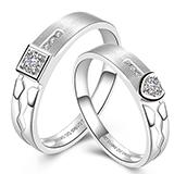 鸿星珠宝 Au750钻石情侣对戒