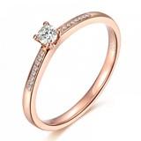 18K金钻石戒指 触碰