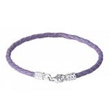 MUUA S925纯银皮绳DIY串珠链-紫色