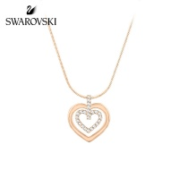SWAROVSKI Circle Heart 鏈墜